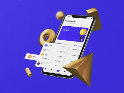 Bitfold Crypto Currency iOS Concept mobile app web design ui design finance crypto ios mobile ux ui