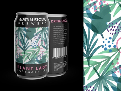 Plant Lady Rosemary IPA figma branding illustration graphic design vectary 3d 3d beer can ipa