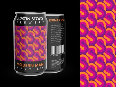 Modern Man | Hazy I.P.A. branding design figma vectary typography vector illustration graphic design beercan beer can ipa branding