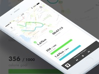 iOS Running App UI Concept
