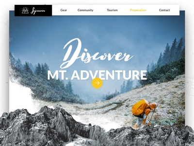 Outdoors Website Concept user interface user experience landing page ux ui web design