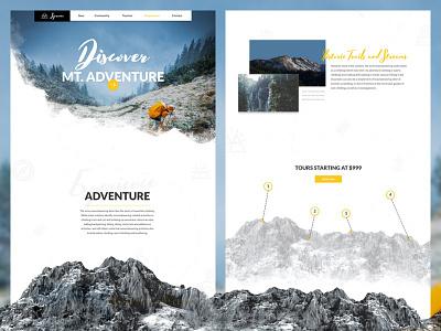 Adventure Website Designs ui ux landing page user experience user interface web design
