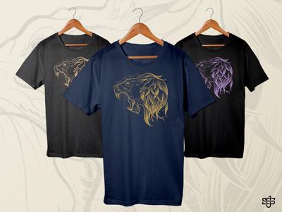 Lion Shirt - Living the God Life graphic tee lion shirt design t-shirt