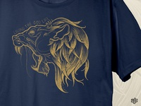 Lion Shirt Graphic Closeup