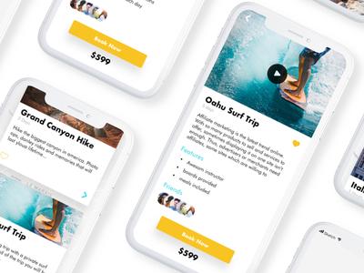 Travel App UI Concept modern blue travelapp iphonex iosdesign appdesign uidesign