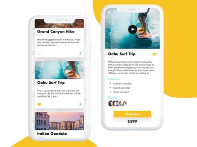 Travel App UI Concept 2 modern blue travelapp iphonex iosdesign appdesign uidesign