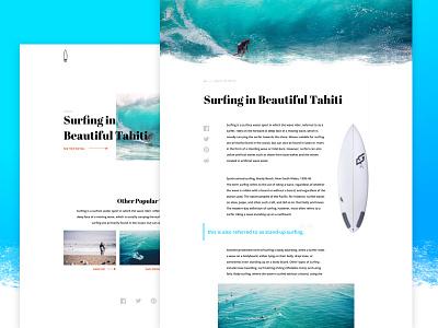 Surfing Magazine Website Concept ui web design webdesign website surfing