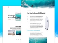 Surfing Magazine Website Concept