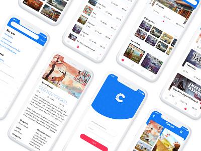 Board Game Mobile App Concept ux design mobile app mobile ui ios ui
