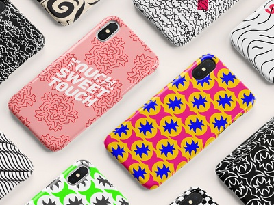 Covers by Harfoush iphonex iphone x pink yellow colors typography type illustration pattern iphone cases cases iphone
