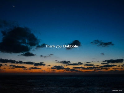 Thanks to Dribbble! you dribbble sky sea alexandria egypt clouds sunset thank
