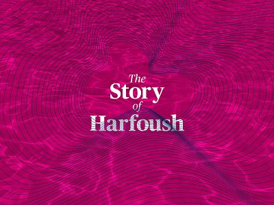 The Story of Harfoush pool swimming image illustration lines blue pink cover portfolio pdf harfoush story