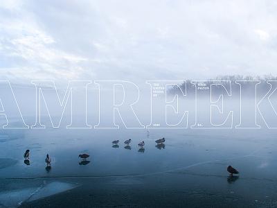 Hello, Washington, D.C. fog mist tree serif typography photo blue states united america dc washington