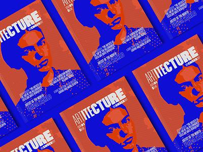 Artitecture Magazine kahlo frida vivid blue orange editorial publication typography magazine architecture design art