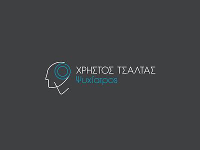 Christos Tsaltas - Psychiatrist logo brain physician doctor medical doctor medical head psychiatry psychiatrist minimalist minimalism design greek alphabet typography visual identity logotype logo branding brand identity greek greece