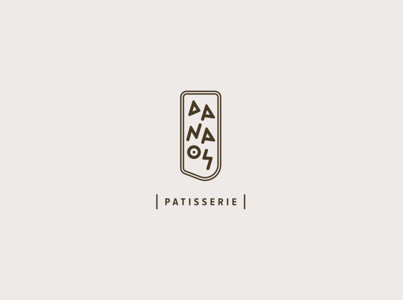 DANAOS Patisserie brand identity design typography logo typography ancient script greek alphabet greek design greece greek patisserie logotype logo bakery logo ancient for sale visual identity brand branding bakery ancient greece