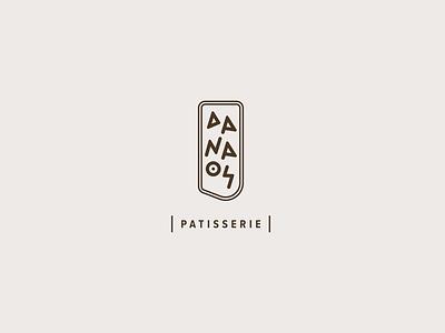 DANAOS Patisserie brand identity design typography logo typography ancient script greek alphabet greek design greece greek patisserie logotype logo bakery logo ancient for sale visual identity brand branding bakery ancient greece