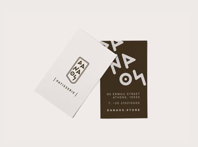 DANAOS Patisserie business cards