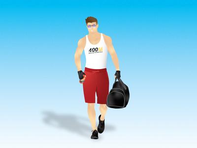 Back to the gym illustration