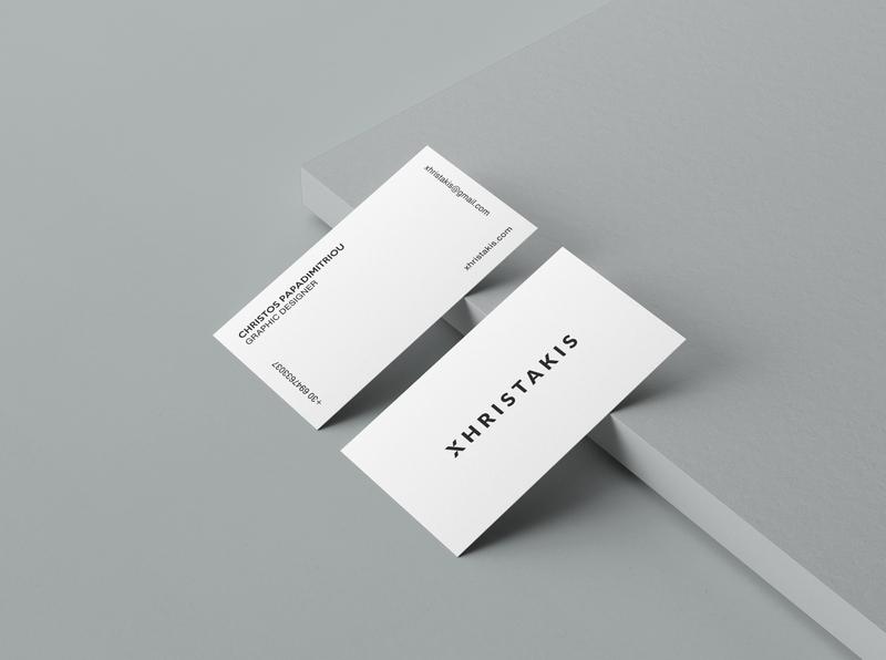 Xhristakis Graphic Design business cards typography logo graphicdesign graphic designer blackandwhite simple minimalist logo minimalism business cards business card businesscards businesscard design visual identity logotype logo typography branding brand identity greek greece