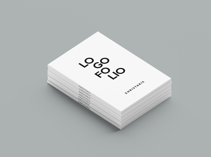 Xhristakis Graphic Design logofolio book minimal blackandwhite simple book graphic designer graphicdesigner graphicdesign minimalistic design minimalist logo minimalism design visual identity logotype logo typography branding brand identity greek greece logofolio