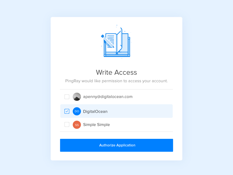 Pop up Auth Page