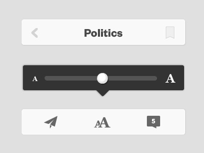 News App Reader app favorite bookmark slider reuters menu simple iphone news 10