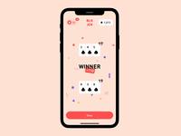 BLKJCK App confetti 12 red interaction animation card game blackjack ui app iphone