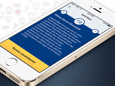 ZahnPlan - iOS App app ios iphone tip blue dentist pattern icons gradient