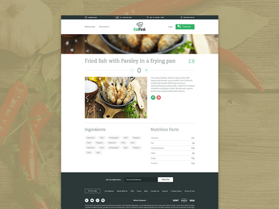 EatFirst - Website detail footer web website startup order meal tags parallax product description