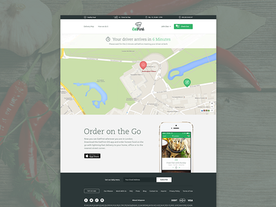 EatFirst - Website web website map header app iphone background