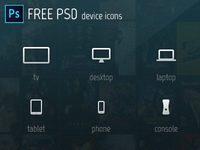 Device Icons - Free PSD