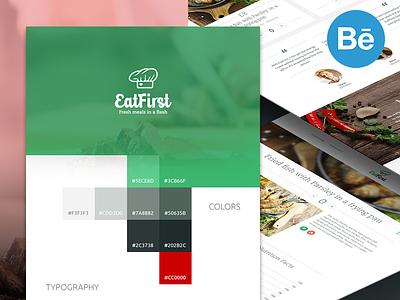 EatFirst - Case Study website web case study behance delivery colors logo background startup