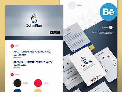 ZahnPlan - iOS App case study app ios presantation behance appstore perspective design