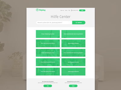 Helpling - Help Page website helpling help search button header grid column field