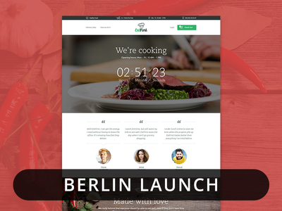 Eatfirst - Berlin Launch counter eat website navigation startup launch berlin service delivery thumbnail background web