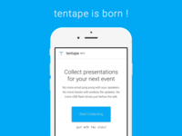 tentape - website launch