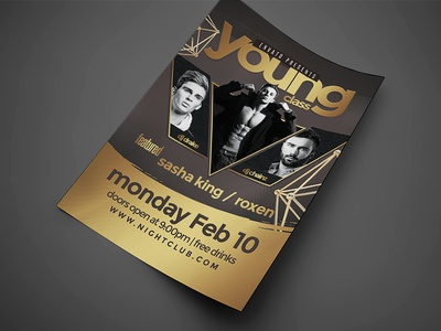 Artist Event Music Flyer 2 2 by Jay Key Dribbble – Music Flyer
