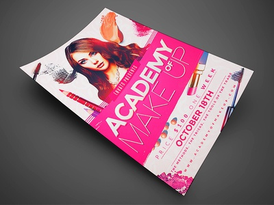 Makeup Course Flyer Template2 By Jay Key Dribbble