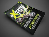Motocross Event Flyer Template  Black