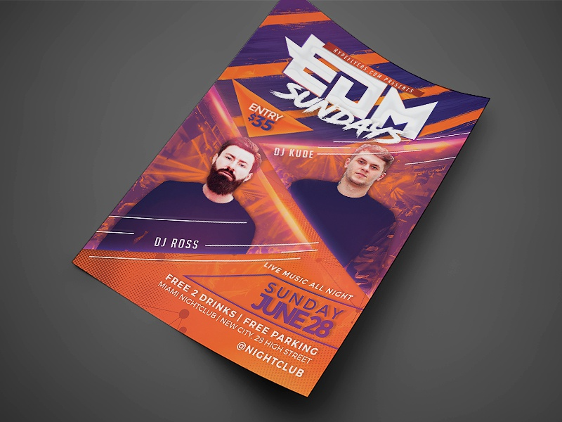 Band Event Flyer Template Original By Jay Key  Dribbble
