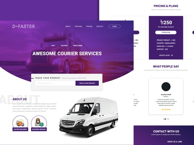 Courier Services web UI