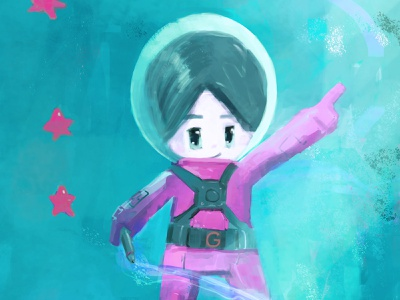 Space boy photoshop illustration