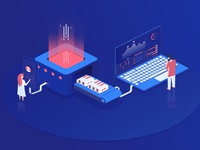 3d infographic with isometric for marketing design