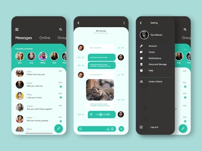 WhatsApp App Redesign application product design modern design app concept ui graphic design ux design messenger app message app whatsapp app design ui design