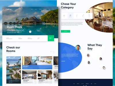 Hotel website redesign Dusit Thani Guam Resort