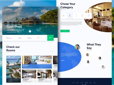 Hotel website redesign Dusit Thani Guam Resort hotel design landing white ui ui design travel site design webdesign hotel