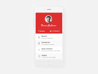 Blood Donor Bank design app ux ui bank donor blood