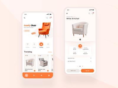 Furniture app mobile app furniture visual design ui ux