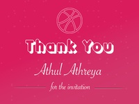 Thank you card for #dribbble invitation